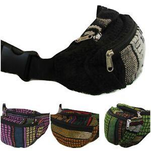 Ethnic Style Cotton Bum Bag Utility Belt Money Pack Festival Hippy Boho Pockets