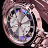 Excellanc Damen Armband Uhr Regenbogen Rosegold Silber Farben Streifen STR4