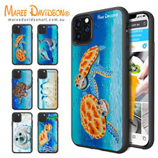 Maree Davidson Art iPhone 12 Pro XS MAX X Print Cases Sea Animals Bumper Cover