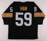 "Jack Ham Pittsburgh Steelers Signed Football Jersey ""HOF 88"" TSE COA Authentic!"