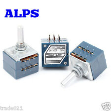 100% Original Japan ALPS 27 type blue Volume potentiometer 2X100K