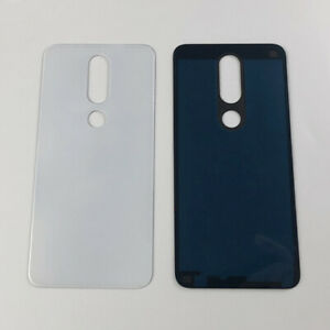 New Back Glass Battery Cover For Nokia X6 6.1 Plus TA-1083/1099/1116/1103 White