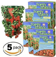 Topsy Turvy STRAWBERRY HANGING PLANTER Upside Down Swivel Top - Pack of 5 DEAL!!