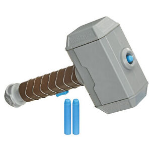Marvel Avengers Thor Hammer Strike Dart-Launching Toy for Nerf Official roleplay