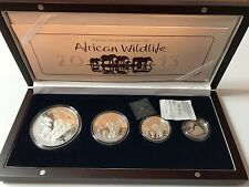 2015 African Wildlife Somalian Elephant Silver 4 Coin Proof Set in Box with COA