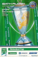 Bath V BENETTON TREVISO-EUROPEAN CUP 11 DICEMBRE 2004 programma Rugby