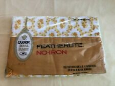 New listing Vintage Cannon Royal Family Cameo Rose Gold Floral Full Flat Sheet~New