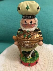 "1999 Hershey's ""Happy St. Patrick's Day"" Figurine• Pot Of Gold/Shamrocks"
