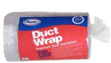 60 sq ft. R-6 Premium Fiberglass Insulated Insulation Duct Wrap System Roll HVAC