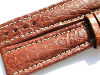 22mm Breitling Band 22/18 Croco braun brown Strap für Dornschliesse 004-22