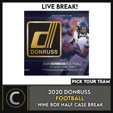 2020 футбол DONRUSS 9 коробка (половина чехол) перерыв #F538 — выбирайте свою команду