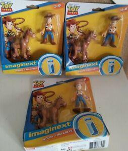 3 Pack Disney Toy Story imaginex Woody & bullseye  3-8 READ