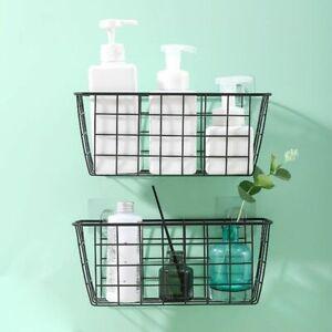 Shelf Adhesive Storage Rack Shower Wall Mounted Basket Organizer Kitchen Tool