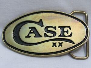 Original Solid Brass CASE Belt BUCKLE New Old Stock