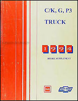 1994 Chevy GMC 6.5 Diesel Shop Manual CK Pickup Truck Van Sierra Silverado