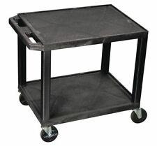 Zoro Select Wt26e Molded Plastic Shelf Utility Cart With Lipped Plastic