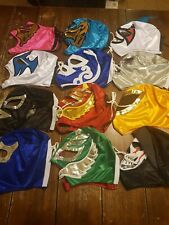 Lucha Libre Mask WWE Style Kids Wrestling Mask With Laces Lot of 2 mask New