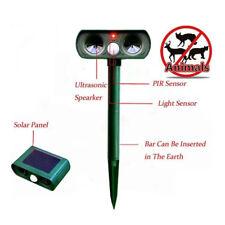 UltraSonic Pest Animal Repeller Solar Dog Cat Scarer Deterrent Pest Repellent