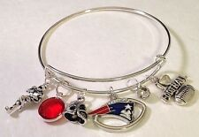 New England Patriots Football Charm Bracelet Bangle FAST SHIPPING  QUALITY USA