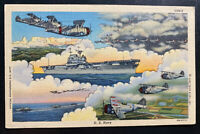 1942 Dearborn MI USA Army Air Base PO Picture Postcard Cover US Navy