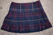 Abercrombie Fitch Oxford School Tartan Plaid Wool Pleated Mini Skirt Girls SZ 12
