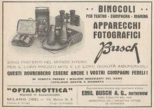 Z1629 Binocoli e Apparecchi Fotografici BUSCH - Pubblicità d'epoca - 1930 Old ad