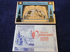 Vtg 1944 Child's Christian Growth Diary Baby Album w/Bible Versus & Sleeve  Q286