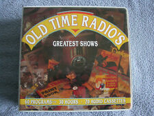 OLD-TIME RADIO'S GREATEST SHOWS 20 CASSETTE SET 60 SHOWS 30 HOURS of LISTENING