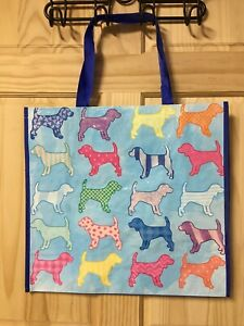 Colorful  Dogs Reusable Shopping Travel Tote Bag Eco Friendly WaterProof