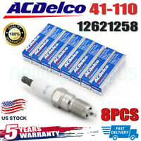 8PCS AC IRIDIUM SPARK PLUGS 41-110 12621258 For CHEVROLET BUICK GMC HUMMER SAAB
