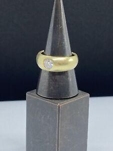 Bandring Damenring 0,5Kt Brilliant 585 Gold Ring 11 Gramm brutto Halbkaräter