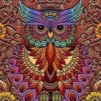 5D Full Drill DIY Diamond Painting Wood Carving Owl Embroidery Cross Craft Kits