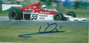 ***  MARIO ANDRETTI  -  PARNELLI / FORD  -  SIGNED  -  F1  ***  photo