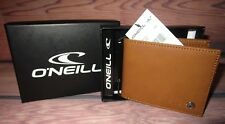 MENS O'NEILL BIFOLD TAN WALLET WITH ORIGINAL GIFT BOX