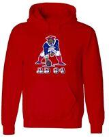Antonio Brown New England Patriots Old School Logo AB84 HOODED SWEATSHIRT