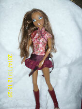 """Mattel My Scene Doll """"Madison/Westley&#03 4; Cute Burgundy One Pc. Outfit W/Boots"""
