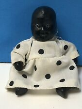 """Cute Vintage Black Americana Bisque Frozen Charlotte Penny Doll Jointed 3.75""""!"""