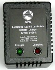 UPG D1730 Sealed Lead Acid Battery Charger 12V Dual-Stage 500mA,Screw Terminals