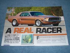 """1968 Mustang GT/CS Drag Car Article """"A Real Racer"""" California Special Coupe"""