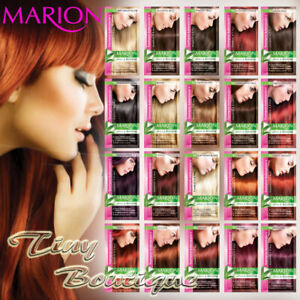 Marion Hair Colour Shampoo Temporary Dye Sachet 4 to 8 Washes Wash Out + GLOVES