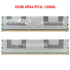 For Samsung 32GB 4Rx4 PC3L-12800L DDR3L-1600Mhz Registered LRDIMM Server Memory
