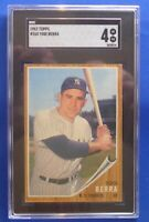 YOGI BERRA New York Yankees 1962 Topps #360 SGC Graded: 4 vg/ex