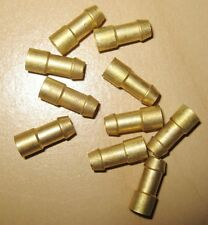 12 X BRASS BULLET CONNECTORS CRIMP TERMINALS WIRE CABLE CLASSIC CAR  WT72