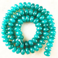 1 Strand Natural Facted Sky Blue Jade Rondelle Loose Bead 15.5inch 8x5mm