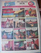 Captain Midnight Sunday by Jonwon from 9/20/1942 Large Rare Full Page Size!