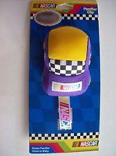 Nascar Pacifier Clip Car Race Purple Checkered