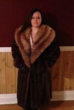 Christian Dior Mink fur coat with Australian possum collar