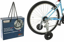 "AMMACO BICYCLE STABILISERS ADULT BIKE TRAINING AID WHEELS FITS 20"" TO 26"" WHEELS"