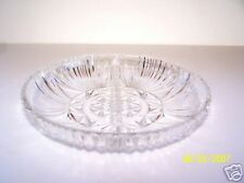 Clear Glass Divided Relish Candy Dish Bowl Designed