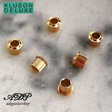 """Kluson Standard Bushing 1/4 """" 6,35mm 11/32 """" 8,73mm for Machine Heads Vtg Gold"""
